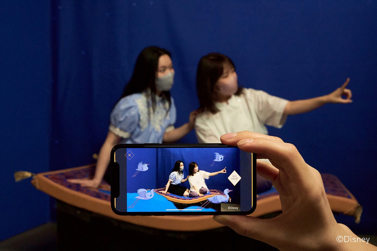 渋谷マルイ「ディズニープリンセス展」でAR展示が開催中!物語に入り込んだかのような体験を