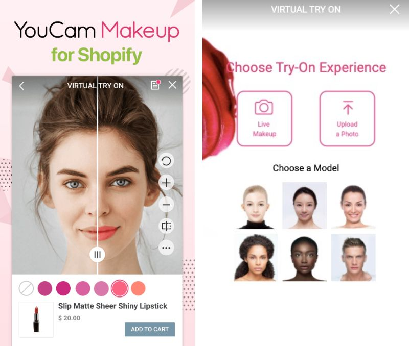 ARを活用したShopify用「YouCamメイク」アプリリリース!Shopifyでバーチャルシミュレーションが可能に