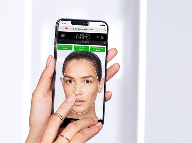 AR技術を駆使したマッチメーカーをNARSが導入!ファンデーションの質感や色を診断