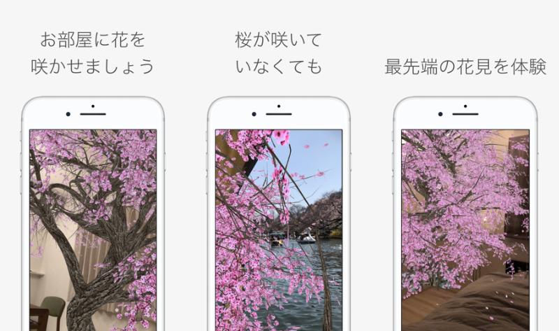 空間認識ARを活用した「AR花見」アプリで、いつでもどこでもお花見気分が楽しめる