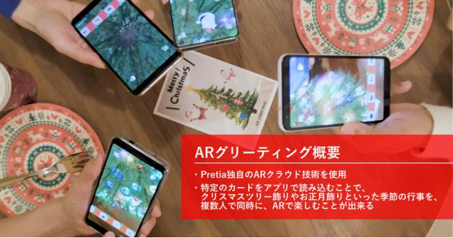 ARを活用したデモアプリ「ARグリーティング」が完成 複数人でイベントの飾り付けを楽しめる