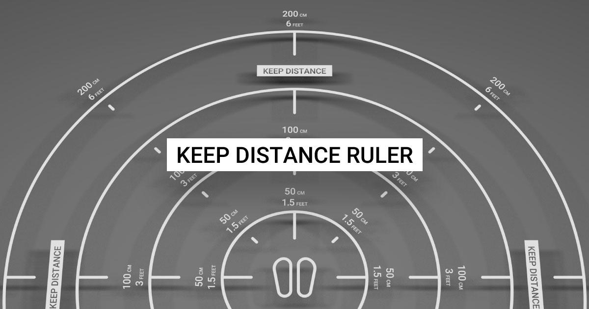 AR定規「Keep Distance Ruler」で、感染症拡大防止のためにソーシャルディスタンスを測れる