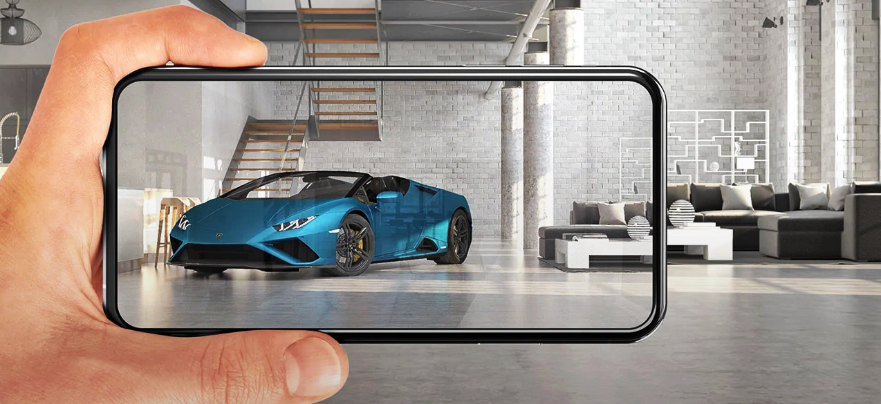 ランボルギーニ、ARで最新モデル「ウラカン EVO RWD Spyder」を公開。精巧な3DCGモデルを自宅で堪能できる