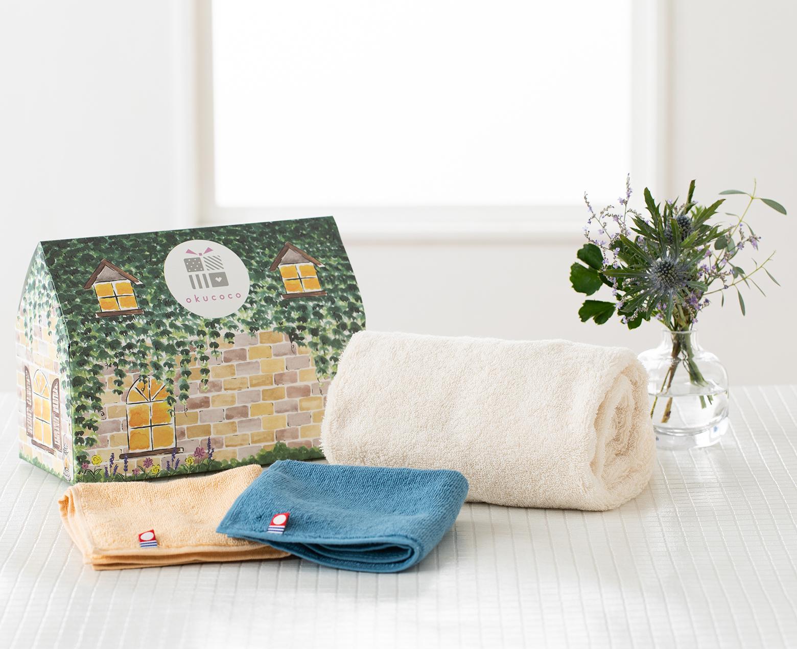 ARオリジナルメッセージと良質なタオルをセットで贈れる!okucoco「今治フェイスタオル&ハンドタオルセット」が発売