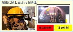 ARで工事現場の「危険度」を表示。トンネル工事の安全性向上システム