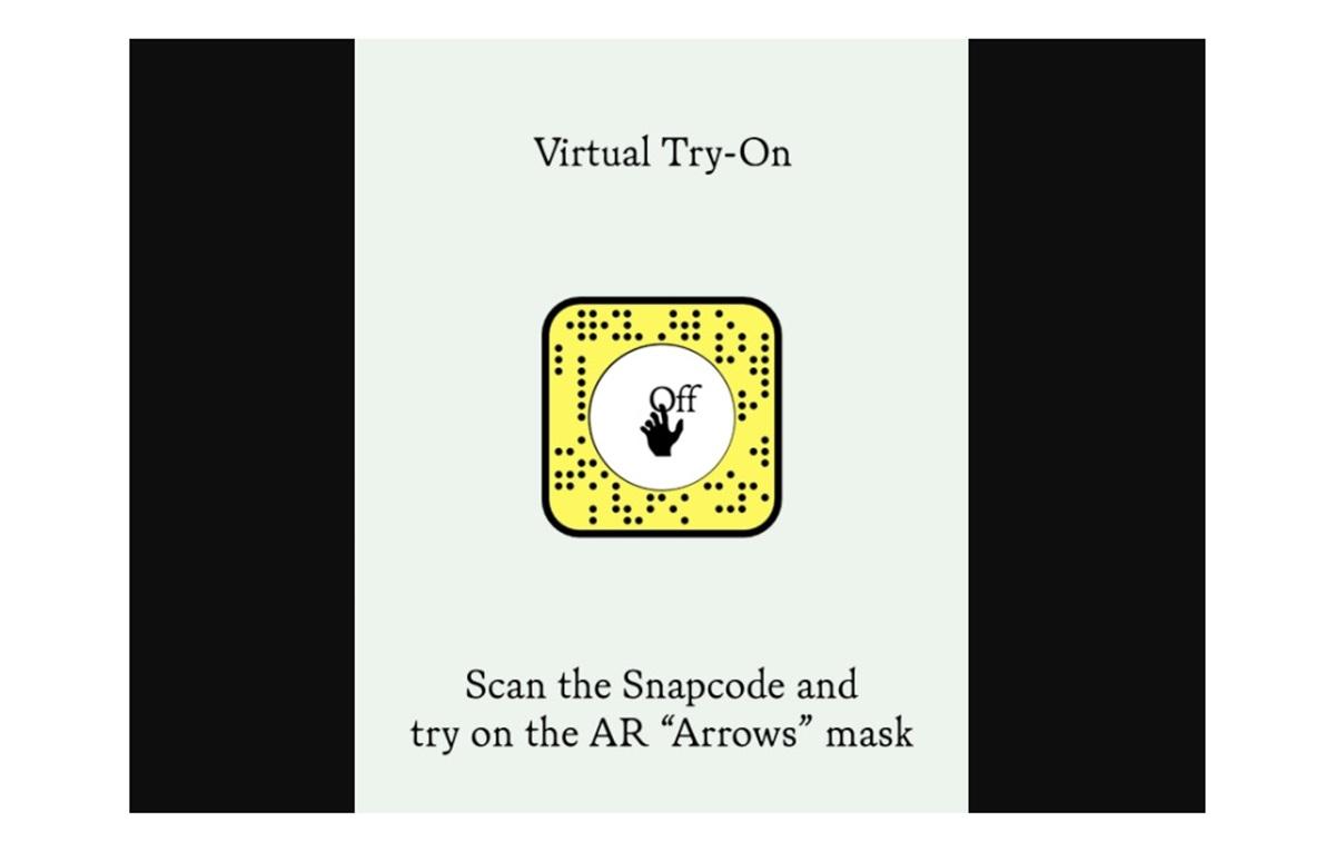 マスクが試着できるARレンズ提供!Snapchat×Off White™️コラボ