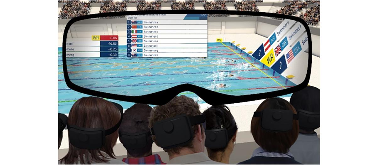 東京オリンピックでARを活用したスポーツ観戦が可能に!水泳競技にAR活用