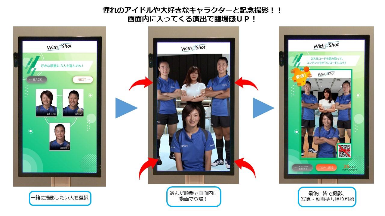 ARで芸能人と記念撮影ができるサイネージ開発!凸版印刷による「WithShot™️」
