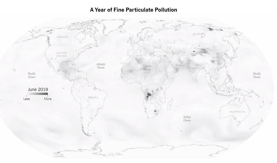 米NYタイムズ、ARで大気汚染を可視化できるコンテンツを配信中