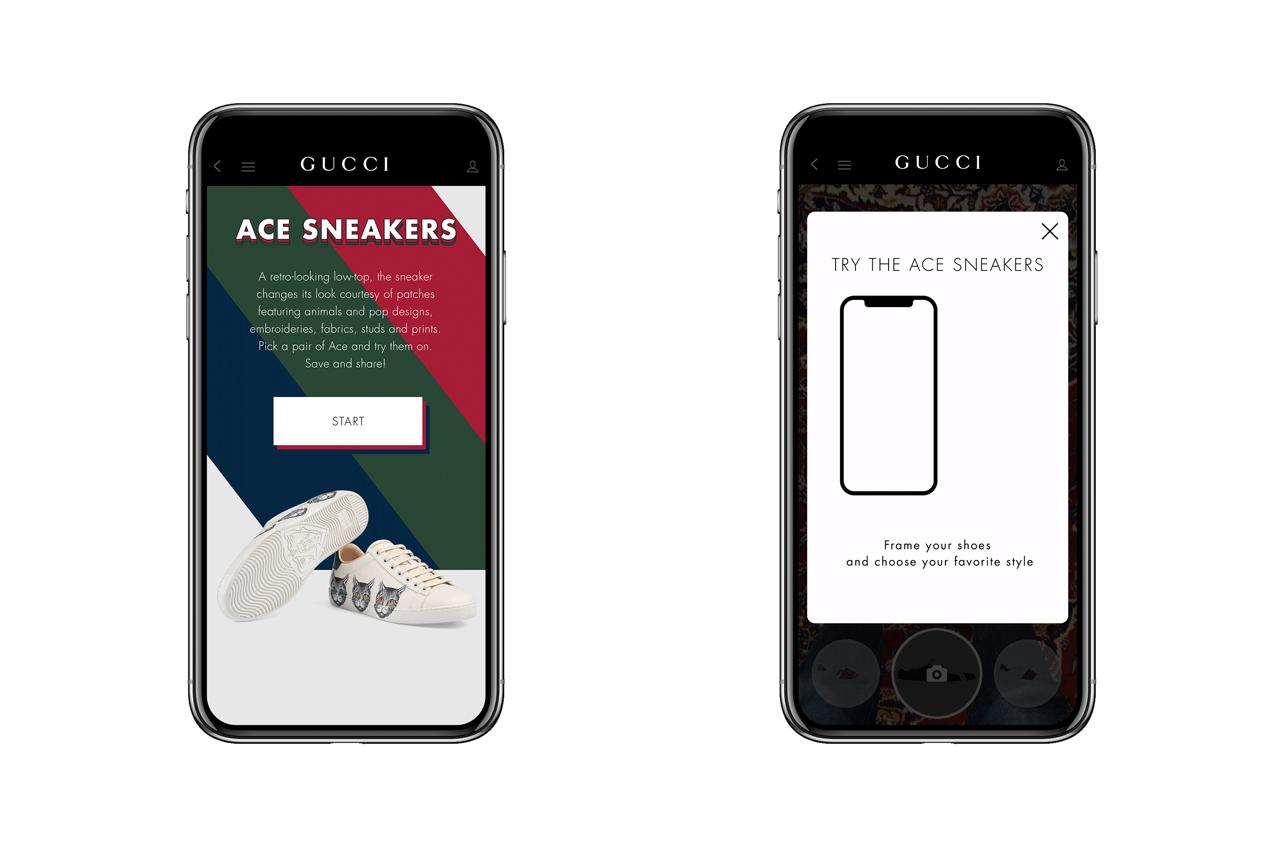 GUCCIのスニーカーARアプリで仮想試着してみよう