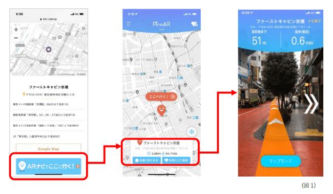 もうホテルまで迷わない!ARアプリ「PinnAR」がファーストキャビン全施設の公式サイトに導入