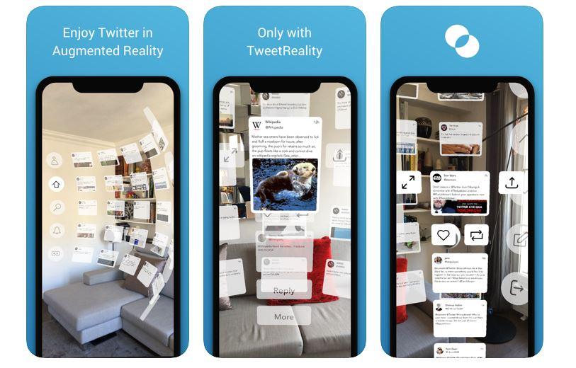空中にツイートが現れる!?近未来感あふれるARアプリ「TweetReality」がすごい
