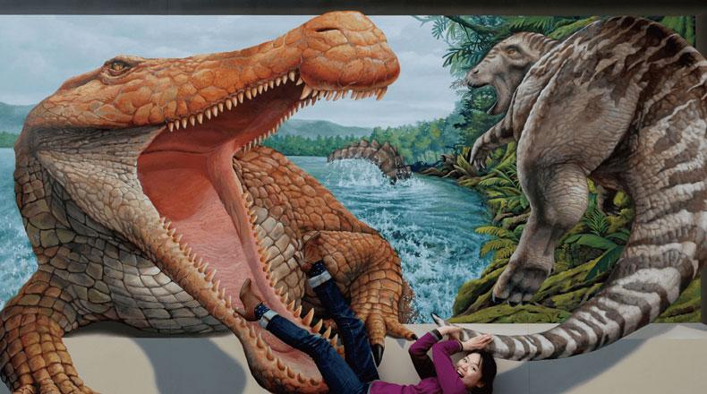 だまし絵とARで不思議な世界を演出。福岡市科学館で「ARトリックアート展」開催
