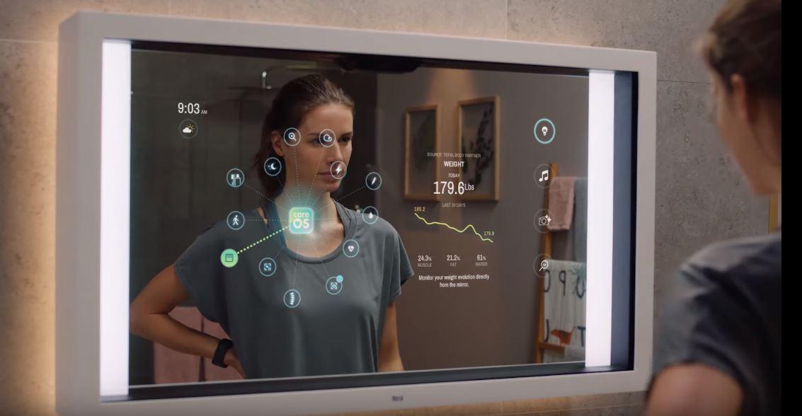 AR/AI技術活用の最新スマートミラーが家電見本市「CES 2020」に登場!バーチャルメイクから視力検査まで!?