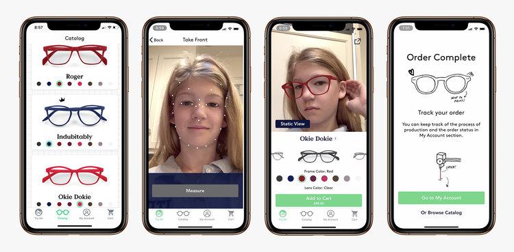 お気に入りの眼鏡を自分で探せる、ARの子どもむけアプリが登場!