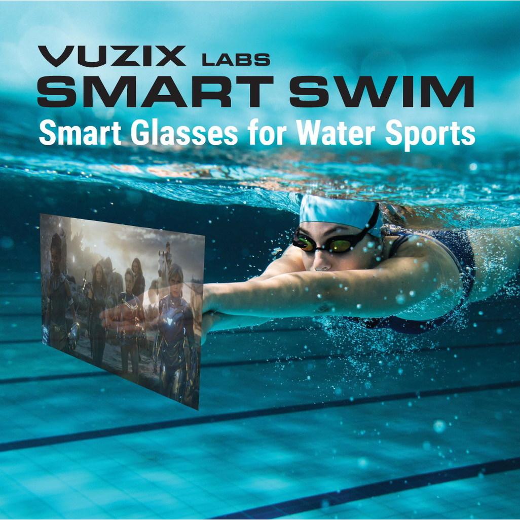 ARデバイス「Vuzix Smart Swim」がスイマー向けに登場!泳ぎながらタイム管理や音楽が楽しめる!?