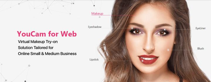 ARメイクタッチアップのWebサービス月額制モデル「YouCam for Web」がリリース!小規模導入も可能に