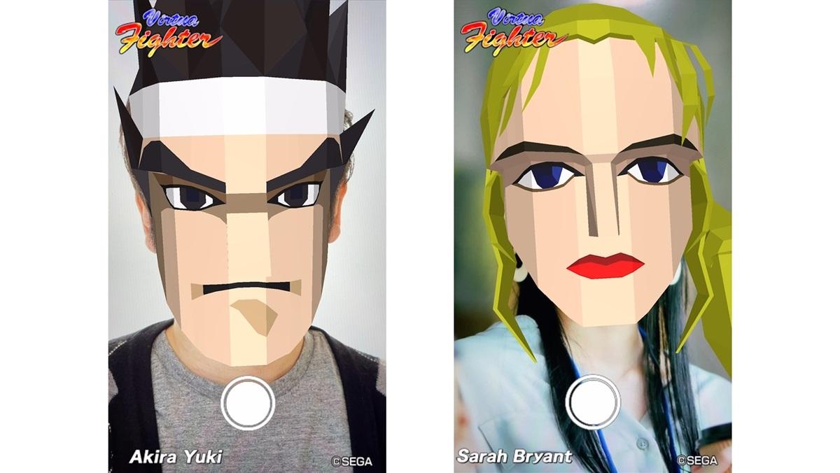 ARで「バーチャファイター」のキャラクターに変身!「Virtua Fighter esports」の配信を記念して公開
