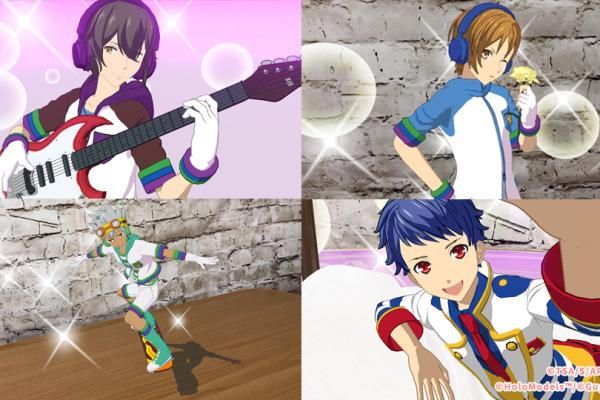 ARやVRなどで楽しめるデジタルフィギュアにアニメ「KING OF PRISM」の人気キャラが登場