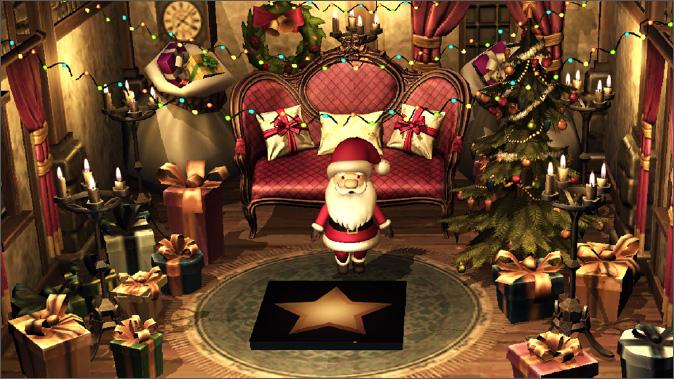箱からサンタが登場する、ローソンのクリスマスケーキ