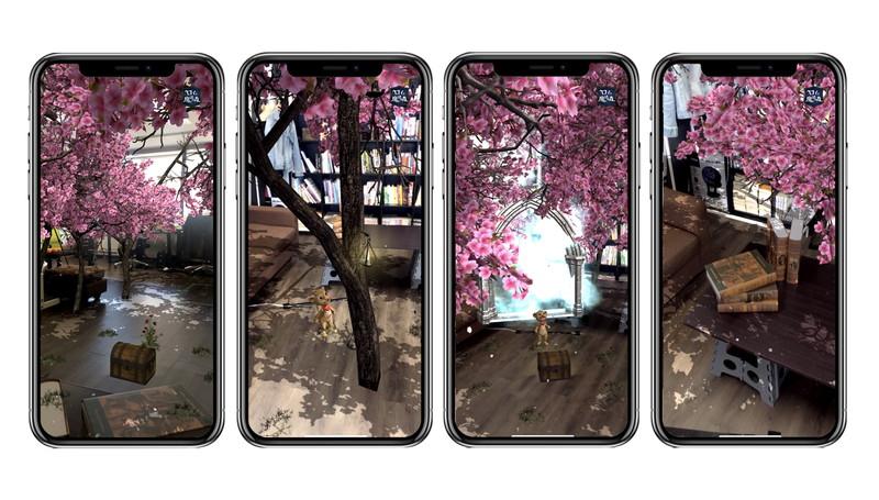 自宅に満開の桜が出現!ARアドベンチャーゲーム『ロイと魔法の森』で期間限定のお花見ができる